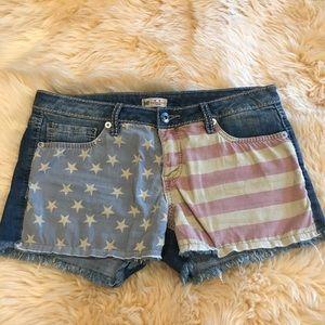 YMI American Flag Denim Shorts